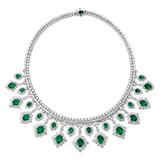AN EMERALD AND DIAMOND NECKLACE -    - Online Auction of Fine Jewels and Silver