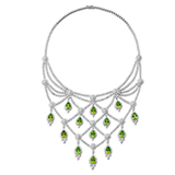 A PERIDOT AND DIAMOND NECKLACE -    - Online Auction of Fine Jewels and Silver