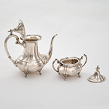 A PAIR OF TEAPOT AND SUGAR BOWL, CARTIER -    - Online Auction of Fine Jewels and Silver