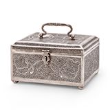 A KASHMIRI SILVER FILIGREE BOX -    - Online Auction of Fine Jewels and Silver