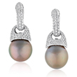 A PAIR OF PEARL AND DIAMOND EAR PENDANTS - Online Auction of Fine Jewels and Silver