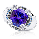 'DOMINION' - A TANZANITE RING BY JASMINE ALEXANDER -    - Online Auction of Fine Jewels and Silver