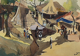 Huts and People - H A Gade - The Discerning Eye | Bangalore, Live