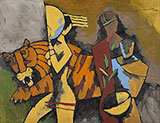 Untitled (Paris Suite) - M F Husain - Evening Sale | New Delhi, Live