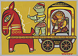 Untitled (Lady in Carriage) - Jamini  Roy - Evening Sale | New Delhi, Live