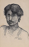 Untitled (Self Portrait) - Jogen  Chowdhury - Evening Sale | New Delhi, Live