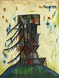 Pagoda Head - F N Souza - Summer Online Auction
