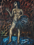 Fan Dancer - F N Souza - Summer Online Auction