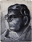 Untitled (Self Potrait) - Jamini  Roy - Summer Online Auction