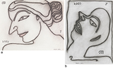 a) Face of Lady b) Boy In Agony - Jogen  Chowdhury - Works on Paper Online Auction