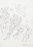 Untitled - Krishen  Khanna - Works on Paper Online Auction