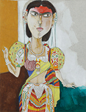 Untitled - K Laxma  Goud - Works on Paper Online Auction
