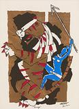 Durga - M F Husain - Works on Paper Online Auction