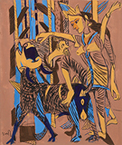 Untitled - K G Subramanyan - Works on Paper Online Auction