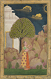 LADY FEEDING A BIRD -    - Classical Indian Art | Live Auction, Mumbai