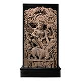 MAHISHASURAMARDINI (DURGA SLAYING THE BUFFALO DEMON) -    - Classical Indian Art | Live Auction, Mumbai