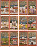 TWELVE FOLIOS DEPICTING THE BARAMASA -    - Classical Indian Art | Live Auction, Mumbai