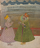 MAHARAJA GAJ SINGH OF BIKANER WITH MULCHAND -    - Classical Indian Art   Live Auction, Mumbai