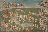 MAHARAJA BAKHAT SINGH OF NAGAUR PROCEEDING FOR BATTLE -    - Classical Indian Art | Live Auction, Mumbai