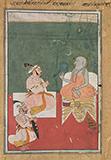 MAHARANA JAGAT SINGH II WITH A HOLY MAN -    - Classical Indian Art   Live Auction, Mumbai