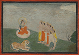 FOLIO FROM THE DEVI MAHATMAYA -    - Classical Indian Art | Live Auction, Mumbai