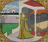 THE IMPATIENT NAYIKA -    - Classical Indian Art   Live Auction, Mumbai