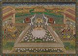 GANESH,GAJALAXMI AND SARASWATI -    - Classical Indian Art   Live Auction, Mumbai