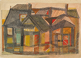 Old Houses - Badri  Narayan - Art and Collectibles Online Auction