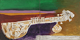 Untitled (Veena in Landscape) - M F Husain - Art and Collectibles Online Auction