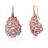 PINK SAPPHIRE EARRINGS BY GYAN -    - Art and Collectibles Online Auction