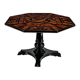 SPECIMEN WOOD INLAY TABLE -    - Art and Collectibles Online Auction