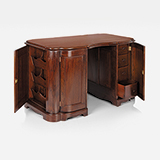 WALNUT WRITING DESK -    - Art and Collectibles Online Auction
