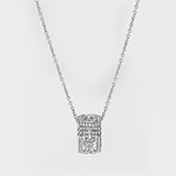 PARENTESI ROUND DIAMOND PENDANT AND 18 K WHITE GOLD CHAIN  BY BVLGARI -    - Art and Collectibles Online Auction