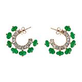 TSAVORITE AND DIAMOND HOOPS -    - Fine Jewels and Objets