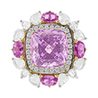 KUNZITE AND PINK SAPPHIRE RING - Fine Jewels and Objets