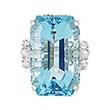 AQUAMARINE AND DIAMOND RING - Fine Jewels and Objets