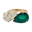 EMERALD AND DIAMOND RING - Fine Jewels and Objets