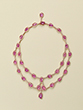 PINK SAPPHIRE DIAMOND NECKLACE - Fine Jewels and Objets