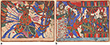 TWO FOLIOS FROM THE RAMAYANA - Living Traditions: Folk & Tribal Art