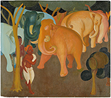Untitled (Elephants in a Forest) - Govind Madhav  Solegaonkar - Evening Sale | New Delhi, Live