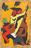 Untitled - M F Husain - The Ties That Bind: South Asian Modern and Contemporary Art