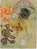 Mushroom and Moon - Rina  Banerjee - Summer Online Auction