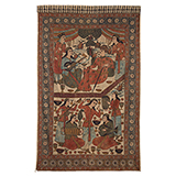 PICTORIAL KALAMKARI WITH MUSICIANS AND DANCERS -    - Woven Treasures: Textiles from the Jasleen Dhamija Collection