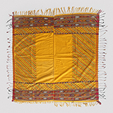 YELLOW SILK HEAD SCARF -    - Woven Treasures: Textiles from the Jasleen Dhamija Collection