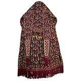 A TEKKE WOMAN'S HEADDRESS -    - Woven Treasures: Textiles from the Jasleen Dhamija Collection