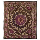 SUZANI WITH SUNBURST -    - Woven Treasures: Textiles from the Jasleen Dhamija Collection