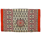 KNITTED BOLSTER COVER WITH MUGHAL MOTIFS -    - Woven Treasures: Textiles from the Jasleen Dhamija Collection