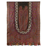 LONG SHAWL WITH OVAL CENTRAL PATTERN -    - Woven Treasures: Textiles from the Jasleen Dhamija Collection