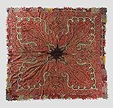 SQUARE SHAWL WITH RADIATING CENTRE -    - Woven Treasures: Textiles from the Jasleen Dhamija Collection