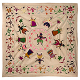 CHAMBA RUMAL WITH KRISHNA IN RASLILA -    - Woven Treasures: Textiles from the Jasleen Dhamija Collection